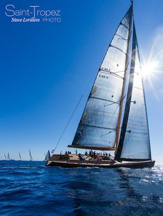 Wally Tiketi Too sailing in Saint-Tropez, France