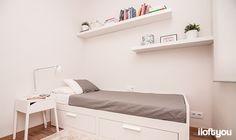#proyectosantalo #iloftyou #interiordesign #ikea #barcelona #lowcost #bedroom #pax #tral #selje #brimnes #enje #lack