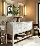 Classic Double Sink Console traditional bathroom vanities and sink consoles
