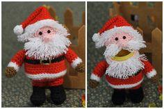 Häkelanleitung Ü-Weihnachtsmann Ausführliche Anleitung mit vielen Bildern. Auch für Anfänger geeignet.