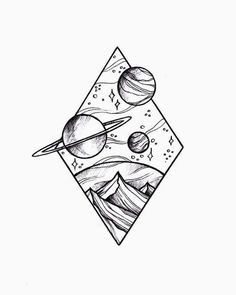 Doodle art 738731145115371515 - Source by Space Drawings, Cool Art Drawings, Pencil Art Drawings, Doodle Drawings, Easy Drawings, Drawing Sketches, Tattoo Drawings, Drawing Ideas, Drawing Drawing