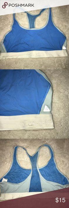 Blue Calvin Klein Sports Bra! Worn twice. Great condition. Calvin Klein Intimates & Sleepwear Bras