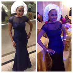 Darling @yetundey in her custom made aso ju