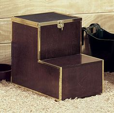 Tack Trunks & Boxes for Horse Stable Accessories Horse Stables, Horse Barns, Horse Mounting Block, Tack Box, Tack Trunk, Horse Grooming, Dream Barn, Horse Tips, Equestrian Style