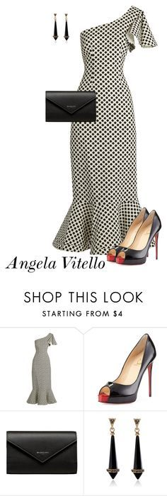 """Untitled #859"" by angela-vitello on Polyvore featuring Saloni, Christian Louboutin and Balenciaga"