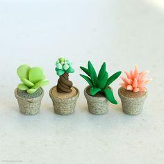 Miniature Fimo succulent by {JooJoo}, via Flickr