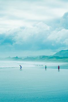 I could drown myself in the colours of this photograph.  Taken at a beach in New Zealand, click to see full size.