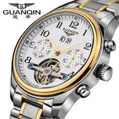 Un precioso reloj de hombre automático de movimiento suizo muy bien fabricado y de apariencia muy sólida. El Quaqin GQ10029 esta disponible en 4 combinaciones difertentes, con esfera blanca y terminada con detalles en color dorado o plata y tambien con la esfera negra igualmente con detalles en color oro o plata. En la esfera …