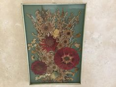 Beautiful Vintage Pressed Flowers Picture from by TillyFritz