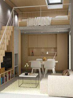 aménagement petit espace | comment-aménager-une-petite-chambre-chambre-de-deux-niveaux-éscalier ...