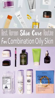 Skincare Routines Top Korean Skin Care Routine Combination Products - BeautyViralRex Wedding And Bri Oily Skin Remedy, Oily Skin Care, Acne Prone Skin, Face Care Routine, Skin Routine, Collagen Lips, Korean Skincare Routine, Dry Skincare