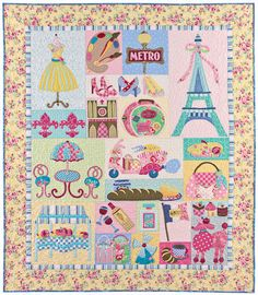 Mon Ami Quilt Pattern by The Vintage Spool Verna Mosquera Paris France. $24.00, via Etsy.