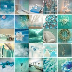 Turquoise / Aqua color board .... color inspiration