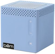 Bem Bluetooth Mobile Speaker Tar Heel Powder Blue. Up to 25ft of working wireless range