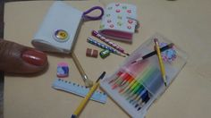 Kit escolar miniatura