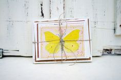5 Mini Upcycled Notecards blank cards recycled by PippinRunWild, £6.50
