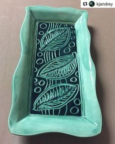 Easter weekend is here, and we are getting ready for a big meal and some precious time with family tomorrow. Wouldn't this gorgeous tray by @kjandrey (made with our forms of course ) look amazing on your Easter table?! Are you going to set the table with any of your handmade creations tomorrow? ・・・ #visionsandvessels #pottery #tray #sgraffito #grpotteryforms #potterylove #handmadepottery