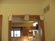 some extra owls from the owl banner I made.  Used scrapbook paper.