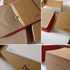 Exclusive jute folder with customize khaki notebook printing