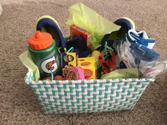 Cool gift idea for an athlete gift ideasgift wrap pinterest easter basket for teen boy negle Images