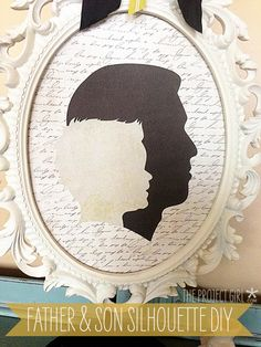 Father's Day Father & Son Silhouette Project DIY | Jenallyson - The Project Girl - Fun Easy Craft Projects including Home Improvement and Decorating - For Women and Moms