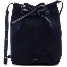 Mansur Gavriel Bucket Bag (1.880 BRL) ❤ liked on Polyvore featuring bags, handbags, shoulder bags, accessories, bolsa, handbags shoulder bags, blue handbags, shoulder handbags, drawstring shoulder bag and suede purse