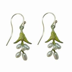 Michael Michaud Sweet Basil Pearl Earrings