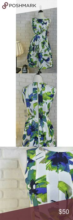 Vince Camuto Dress NWT! This is a beautiful dress !!! Has an exposed gold zipper on the back. Shell 95% polyester 5% spandex , linning 100% polyester. Machine wash. Vince Camuto Dresses Midi