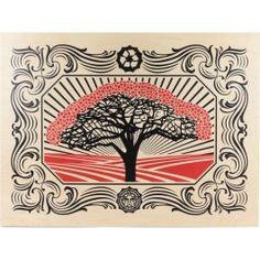 Tree   By Shepard Fairey  Long sold out!!  PrintsonWood