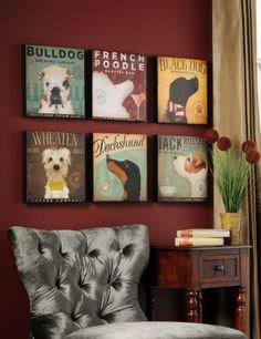 Vintage Dog Canvas Prints at Kirkland's - Love them all together.