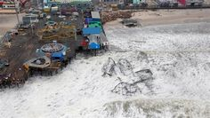 Aerial views of the damage caused by Hurricane Sandy to the New Jersey coast, taken during a search and rescue mission by the New Jersey Army National Guard on Tuesday, Oct. 30.