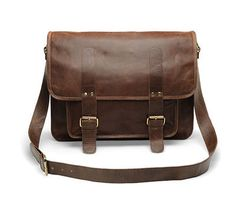 "Handmade Rustic Leather Messenger Bag Laptop Case Flap Cover Large 16"" New | eBay"