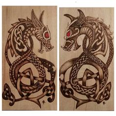 Artist IG @bushnbeachbug Precision #pyrography #dragons #burnbabyburn This artwork was inspired by a @celtichammerclub original design. (Previous post) With artists permission. Give both a follow! #norsemythology #vikingart Thank you both!
