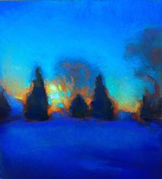 Winter Evening by Susan Mayfield Pastel ~  x