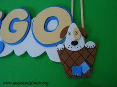 www.unpocodetodo.org - Cartel de Diego - Carteles - Goma eva - air balloon - animales - animals - bear - comet - cometa - crafts - dog - manualidades - oso - perro - 4