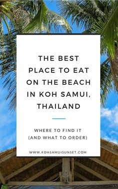 Discover the world's best beach restaurant in Koh Samui, Thailand: Looking for Koh Samui's best seafood lunch on the beach? We first covered Had Bang Po Restaurant ten ago in our top five list for Koh Samui food, but. Thailand Restaurant, Best Seafood Restaurant, Cool Restaurant, Koh Samui Thailand, Ko Samui, Phuket, Thailand Island Hopping, Lunch On The Beach, Thailand Travel Tips