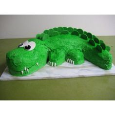 so...Innes is in to crocodiles this year: the cake could be tricky!!