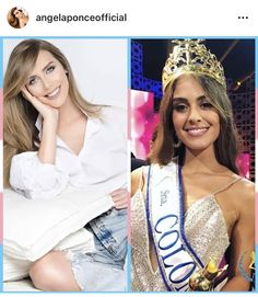 Miss España respondiendo a Miss Colombia Miss Colombia, Female Models, Crop Tops, Angela, Pinoy, Instagram, Women, Blog, Fashion