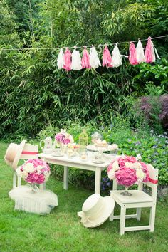 Tea Party Soiree in Vancouver from Sara Rad Studio Read more - www. Spring Window Display, Pink And Gold Dress, Royal Tea Parties, Vancouver, Tea Party Birthday, Birthday Ideas, Colorful Birthday, Magenta, Marquee Wedding