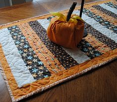 Thanksgiving Quilted Table Runner :)