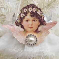 Your vintage angel cone is now ready to hang on your Christmas tree.