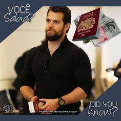 Você sabia que o ator Henry Cavill nunca sai de casa sem o seu passaporte, dinheiro e o cartão de crédito? Homem prevenido