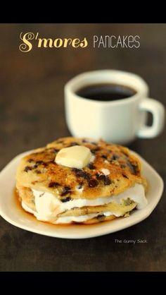 Smore Pancakes #Food #Drink #Trusper #Tip