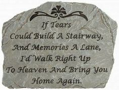 Inspirational Garden Stone #memorial #sympathy #gift #stone