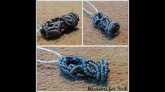 How to make Micro Macrame Tassel or round beads by Macrame for Soul