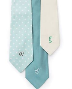 Gorgeous ties for the groomsmen in our pick for the 2013 wedding color - mint