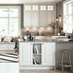 Alice Antikvit Diy Kitchen, Kitchen Interior, Kitchen Cabinets, Contemporary Decor, Sweet Home, Interior Design, House, Furniture, Home Decor