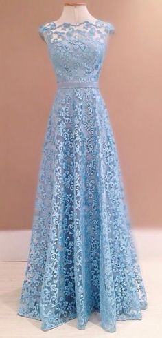 Gorgeous floral lace backless prom dress