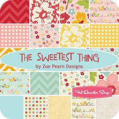 The Sweetest Thing Fat Quarter Bundle Zoe Pearn Designs for Riley Blake Designs - Fat Quarter Shop