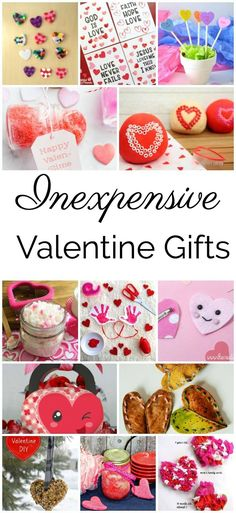 Great ideas of Inexpensive Valentine's Day gifts for kids to make. #valentinesday #gifts #crafts #kids